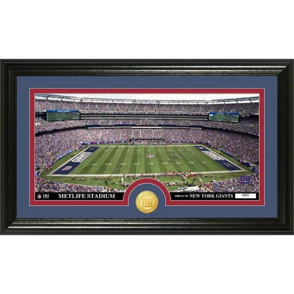 NFL New York Giants 'Stadium' Bronze Coin Panoramic Photo Mint