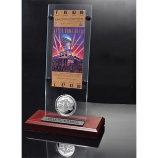 NFL Super Bowl 27 Ticket and Game Coin Collection