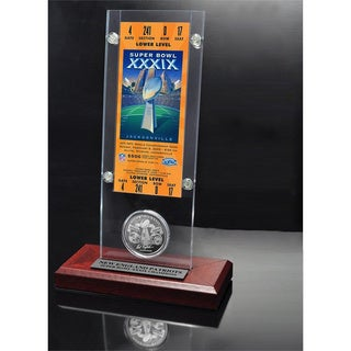 NFL Super Bowl 39 Ticket and Game Coin Collection