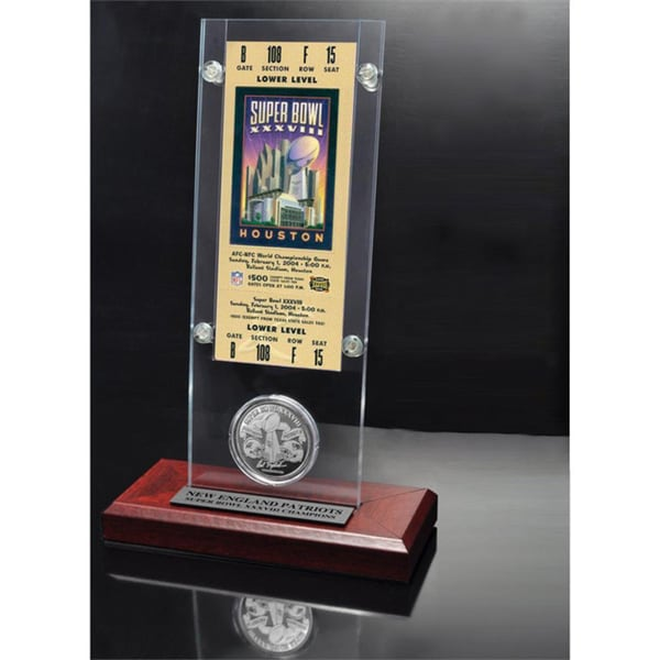 NFL Super Bowl 38 Ticket and Game Coin Collection