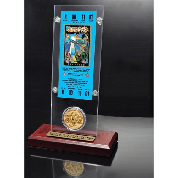 NFL Super Bowl 37 Ticket and Game Coin Collection