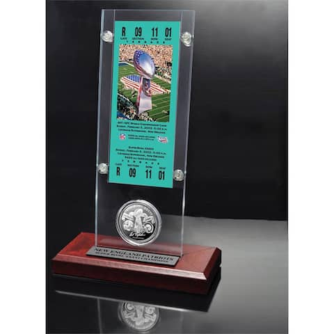 NFL Super Bowl 36 Ticket and Game Coin Collection