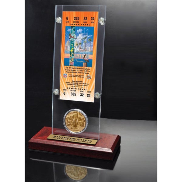 NFL Super Bowl 35 Ticket and Game Coin Collection