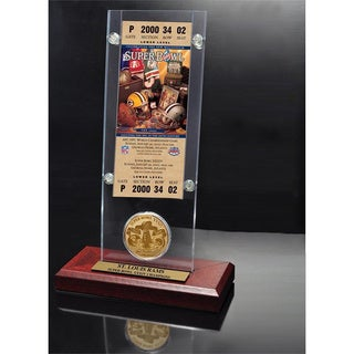 NFL Super Bowl 34 Ticket and Game Coin Collection