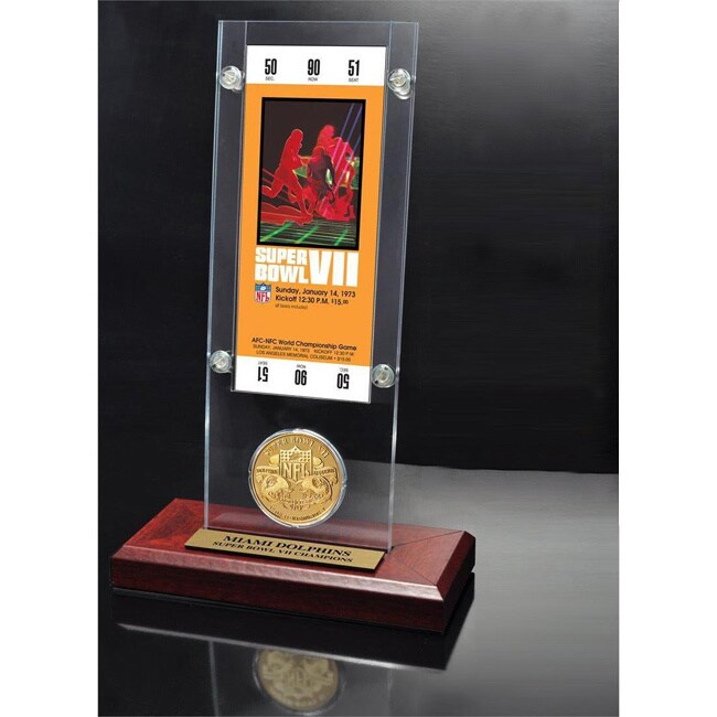 Highland Mint NFL Super Bowl 7 Ticket and Game Coin Colle...