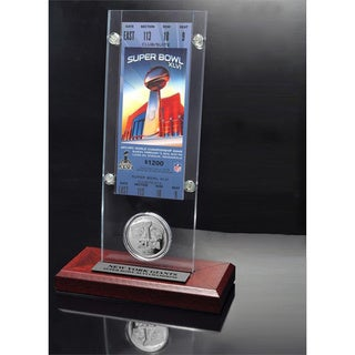 NFL Super Bowl 46 Ticket and Game Coin Collection