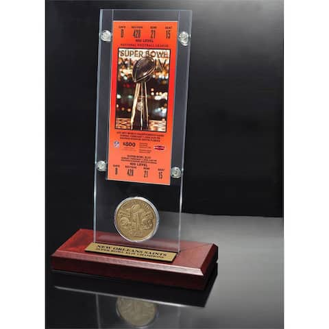 NFL Super Bowl 44 Ticket and Game Coin Collection