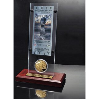 NFL Super Bowl 43 Ticket and Game Coin Collection