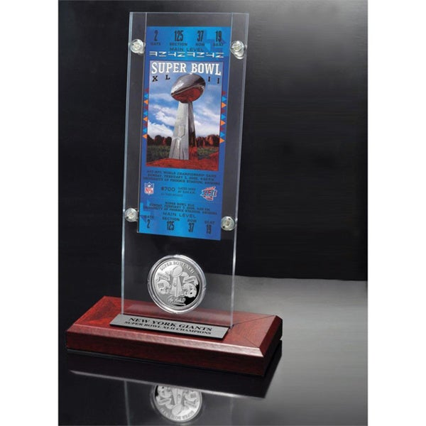 NFL Super Bowl 42 Ticket and Game Coin Collection