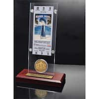 NFL Super Bowl 41 Ticket and Game Coin Collection