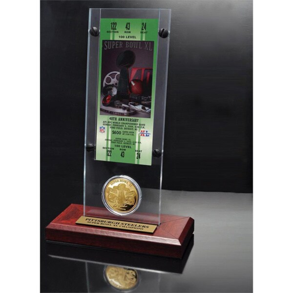 NFL Super Bowl 40 Ticket and Game Coin Collection