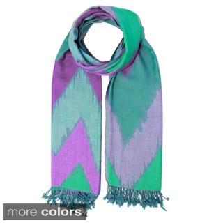 Saachi Women's Chevron Wool Blend Scarf (India)