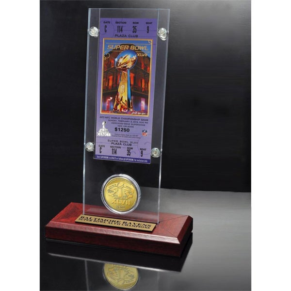 NFL Super Bowl 47 Ticket and Game Coin Collection