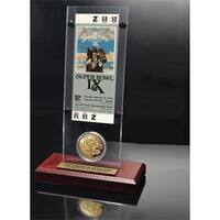 NFL Super Bowl 9 Ticket and Game Coin Collection