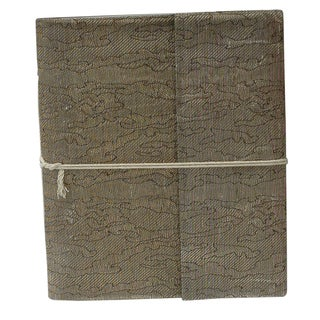 Handwoven Metallic Silk Damask Weave Notebook (India)