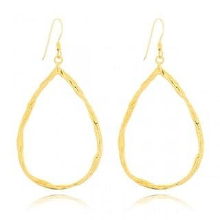 Belcho Gold Overlay Teardrop Shape Passion Earrings