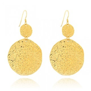 Belcho Hammered Cascading Disks Earrings
