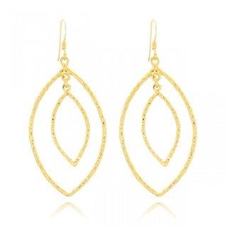 Belcho Enclosure Leaf-shaped Passion Dangle Earrings