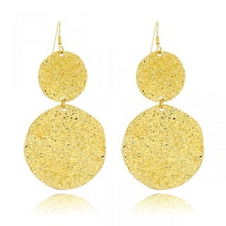 Belcho Large Hammered Cascading Disk Earrings