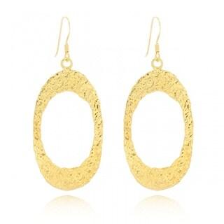 Belcho Textured Oval Dangle Earrings