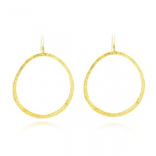 Belcho Midsize Textured Hoop Earrings