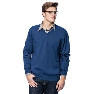 Enzo Mantovani Men's Italian Cotton V-neck Sweater