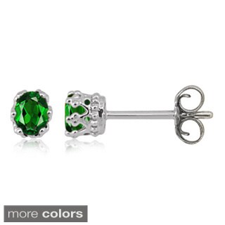 Sterling Silver Chrome Diopside Gemstone Earrings