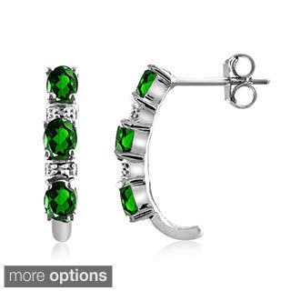 Diopside and Diamond Accent Earrings - Green|https://ak1.ostkcdn.com/images/products/9444511/P16629480.jpg?impolicy=medium