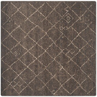 Safavieh Tunisia Dark Brown Rug (6' Square)