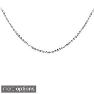 Mondevio Sterling Silver 1mm Rolo Chain Necklace