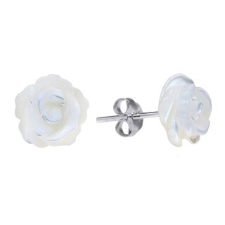 Handmade Rose of Innocence Carved MOP .925 Silver Earrings (Thailand)|https://ak1.ostkcdn.com/images/products/9444560/P16629529.jpg?_ostk_perf_=percv&impolicy=medium