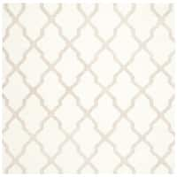 Safavieh Hand-woven Reversible Dhurries Ivory/ Camel Wool Rug - 6' Square