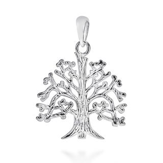 Handmade .925 Sterling Silver Textured 'Tree Of Life' Branches Root Pendant (Thailand)