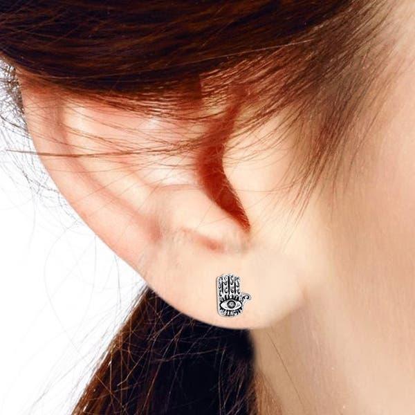 Evil Eye /& Hamsa Mismatched Earrings