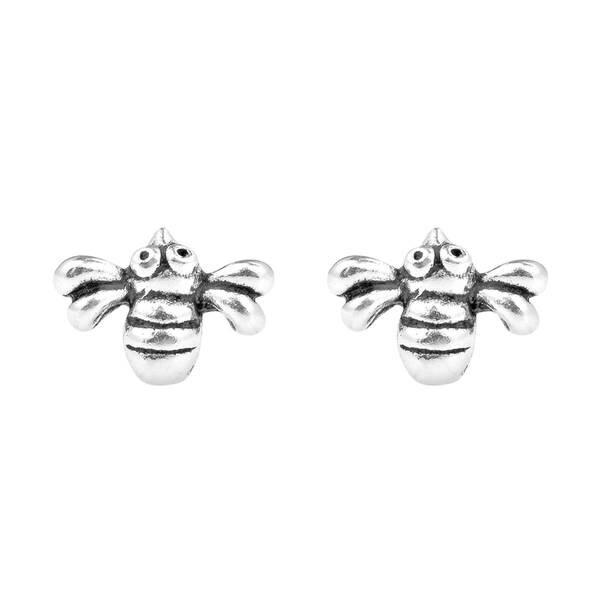 ea7c2d434 Handmade .925 Sterling Silver Petite Adorable Bumble Bee Stud Earrings  (Thailand)