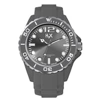 H2X Men's Reef Collection SG382UG1 Grey Soft Rubber Watch