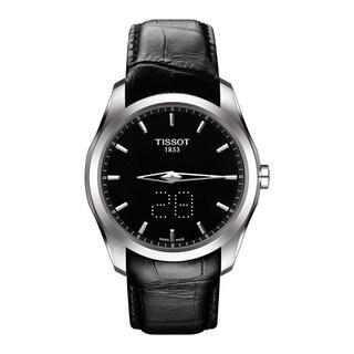 Tissot Men's T0354461605100 'Couturier' Black Leather Watch