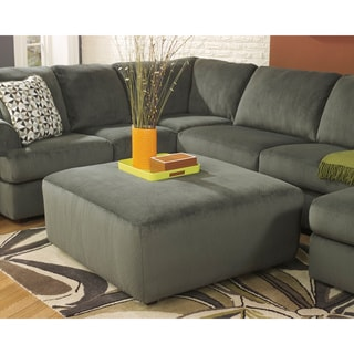 Signature Design by Ashley Jessa Place Pewter Oversized Accent Ottoman