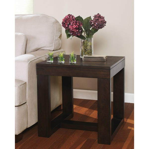 Charmant Signature Design By Ashley Watson Dark Brown Square End Table