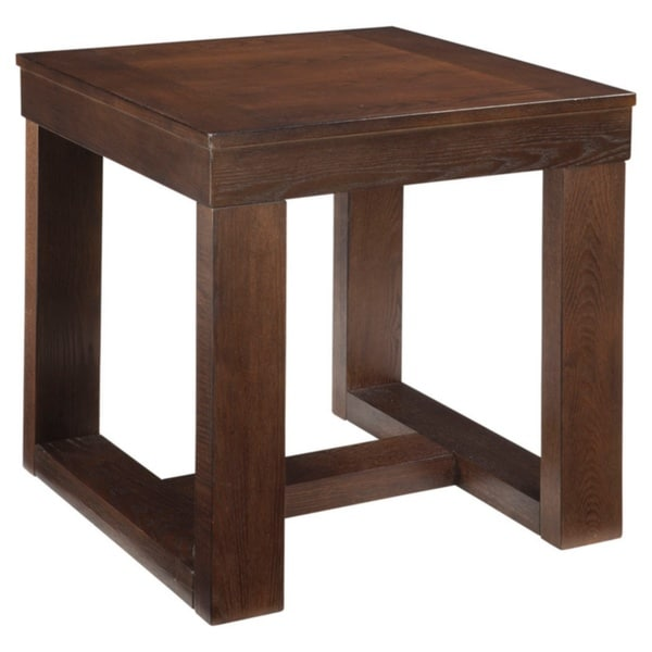Shop Watson Dark Brown Square End Table Free Shipping