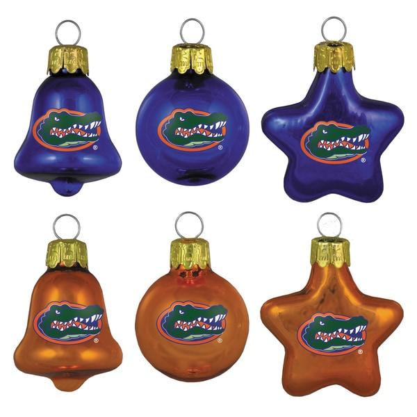 Florida Gators Mini Blown Glass Ornament Set