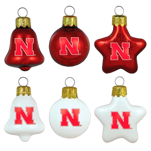 Nebraska Cornhuskers Mini Blown Glass Ornament Set