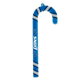 Detroit Lions Plastic Candy Cane Ornament Set