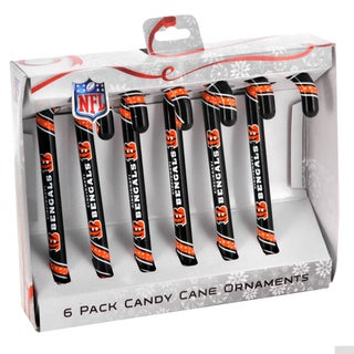 Cincinnati Bengals Plastic Candy Cane Ornament Set