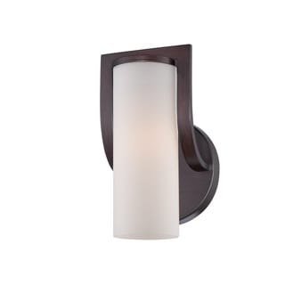 Nuvo Daytona Russet Bronze and Satin Glass Wall Sconce