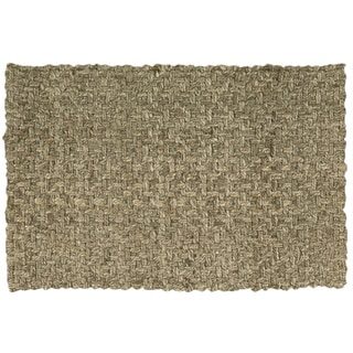 Nourison Basketweave Natural Jute Rug (2' x 3')