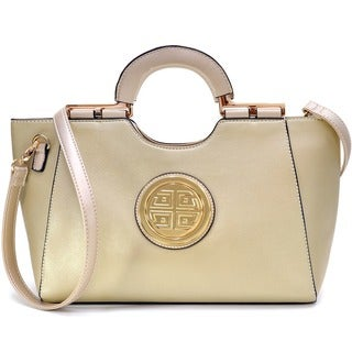 Link to Dasein Goldtone Loop Handle Shoulder Handbag with Removable Shoulder Strap Similar Items in Shop By Style