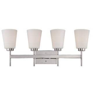 Nuvo Benson Polished Nickel 4-light Vanity