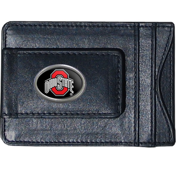 Ohio State Buckeyes Leather Money Clip and Cardholder