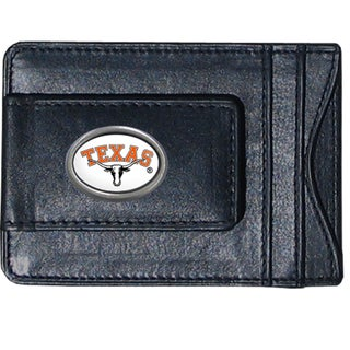 NCAA Texas Longhorns Leather Money Clip and Cardholder